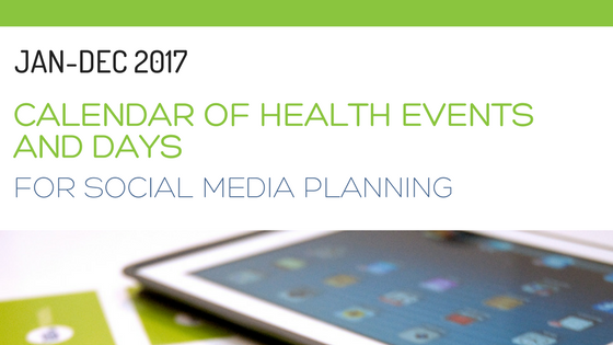 2017 calendar of health events