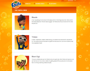 A suite of cool and likeable personas developed by Fanta to engage young people.
