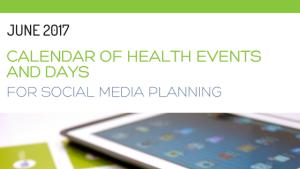 June 2017 calendar of health events