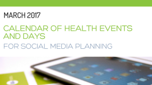 March 2017 calendar of health events