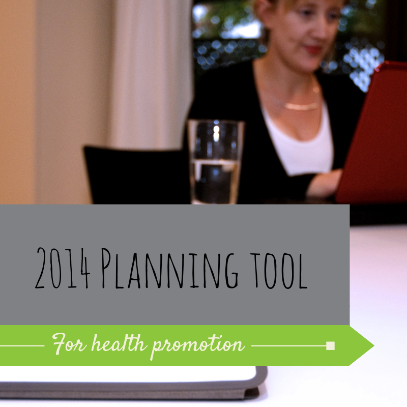 Planning tool for health promotion practitioners