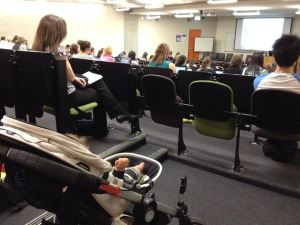 Baby's first university lecture.
