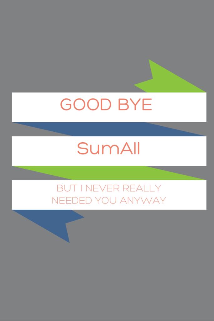 Goodbye SumAll