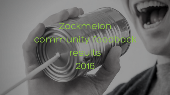 Zockmelon Community Feedback Results 2016