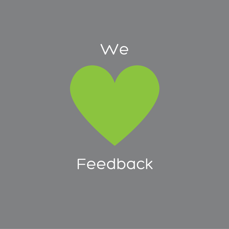 We love feedback graphic
