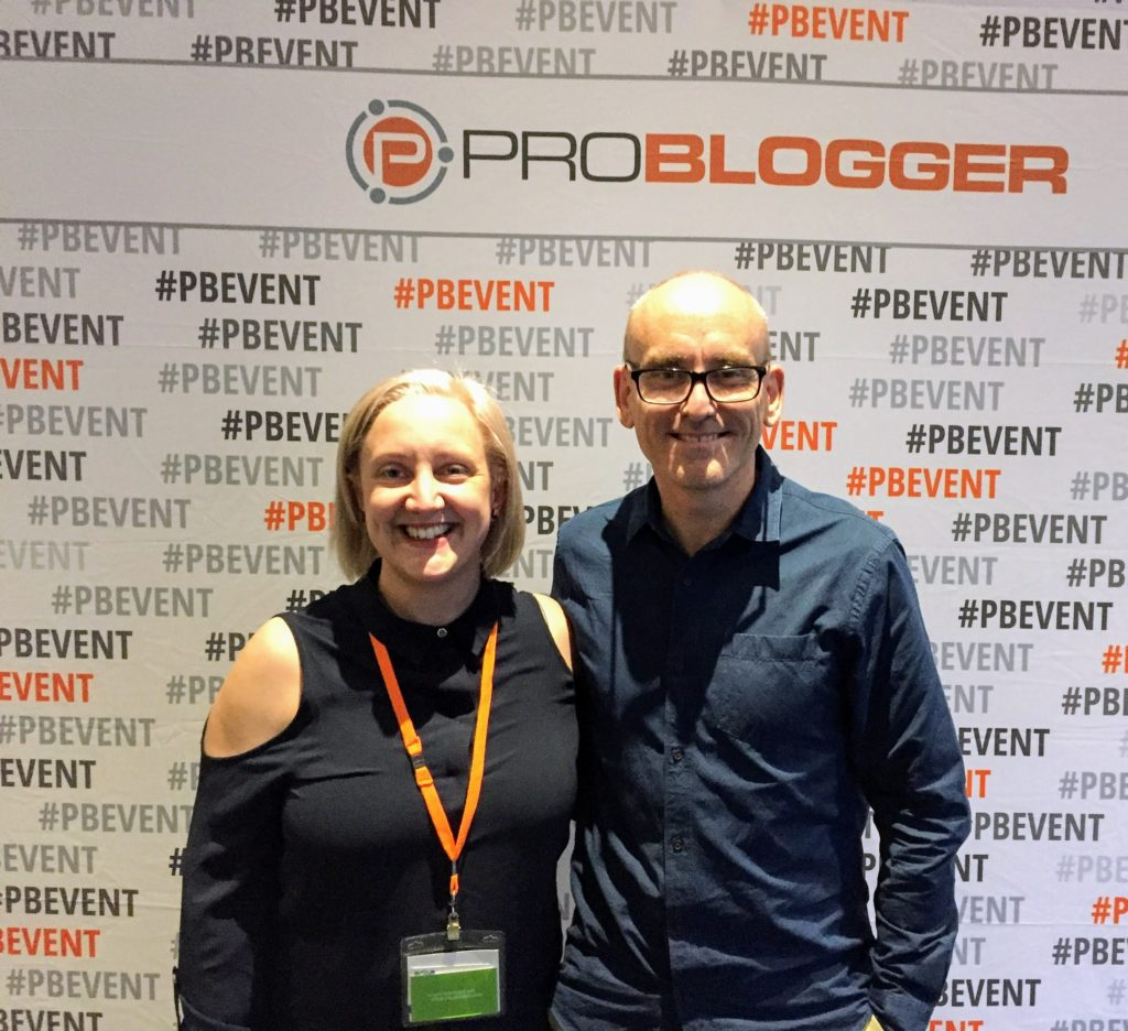 Kristy Schirmer and Darren Rowse at Problogger 2017 Review problogger