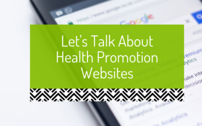 Let's talk about health promotion websites