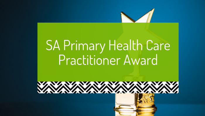 SA Primary Health Care Practitioner Award 2014