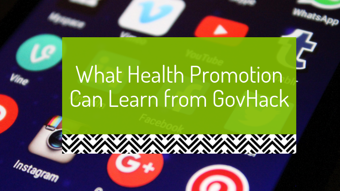 What health promotion can learn from GovHack